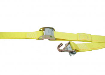 Logistic Strap With Ratchet Buckle & Spring Loaded Fittings / Wire Hooks
