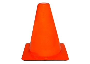 Orange Premium PVC Traffic Safety Cones (4 Cones)