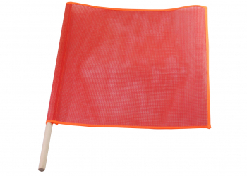 Warning Flag - Wooden Dowel Flag