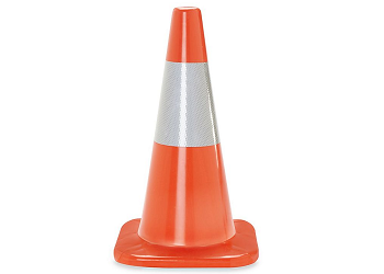 Orange Premium PVC Traffic Safety Cones with 6